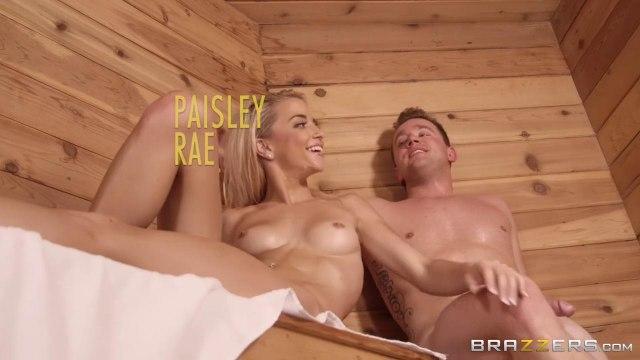 Развратная блондинка устроила жаркий секс с мужиком в сауне #9